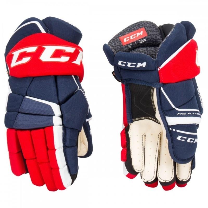 "Rukavice CCM Tacks 9060 JR, tmavě modrá-červená-bílá, Junior, 12"""