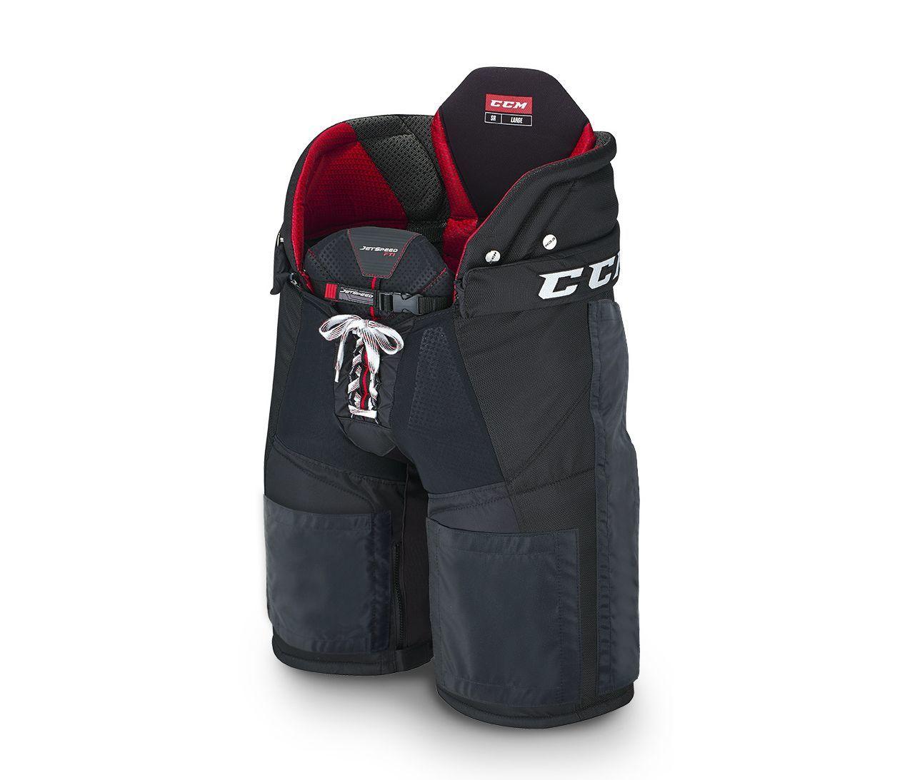 Kalhoty CCM Jetspeed FT1 Velcro SR, červená, Senior, M