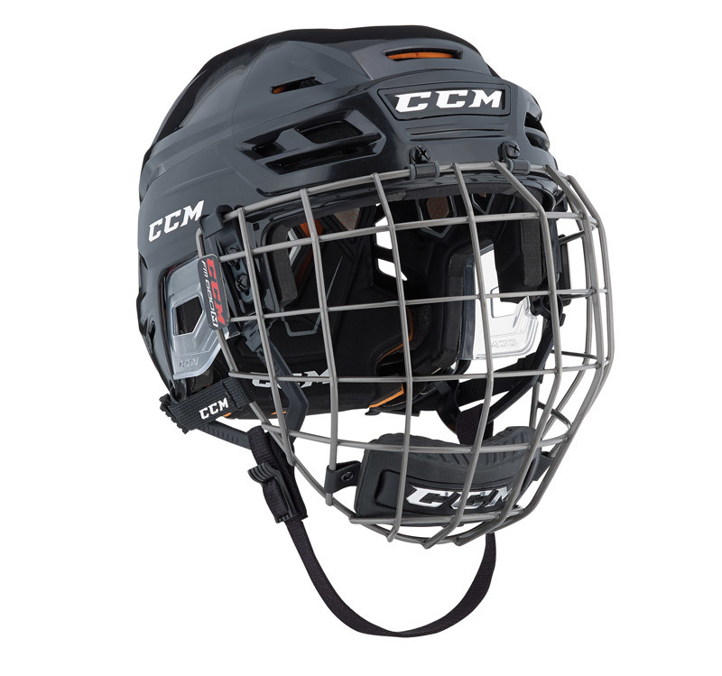 Helma CCM Tacks 710 Combo SR, černá, Senior, L, 57-62cm