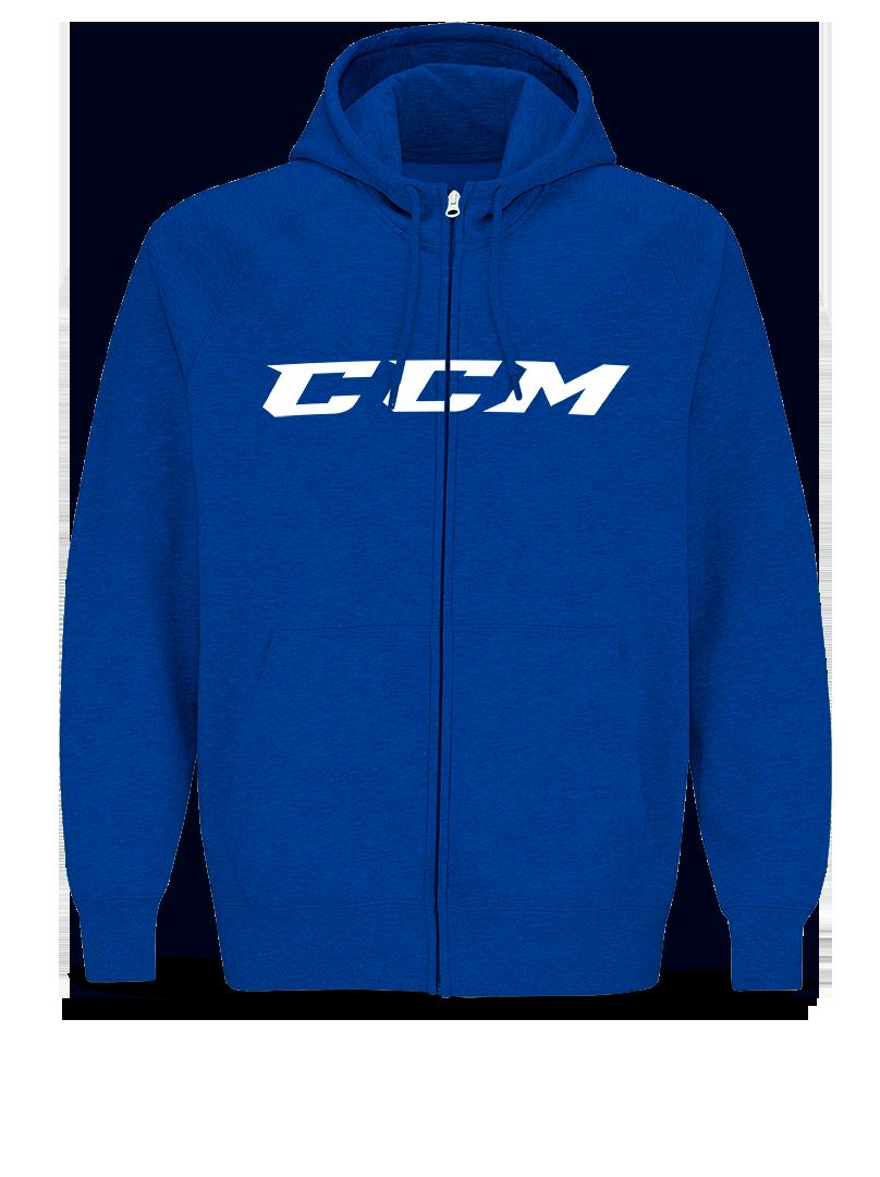 Mikina CCM Full Zip CVC Hoody YTH, modrá, Dětská, XS