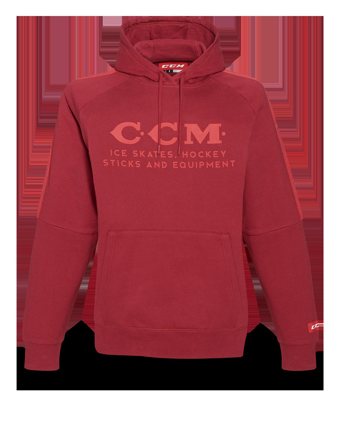 Mikina CCM Heritage Logo Hoodie SR, červená, Senior, S