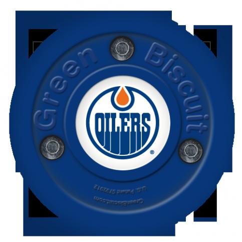 Puk Green Biscuit NHL Edmonton Oilers