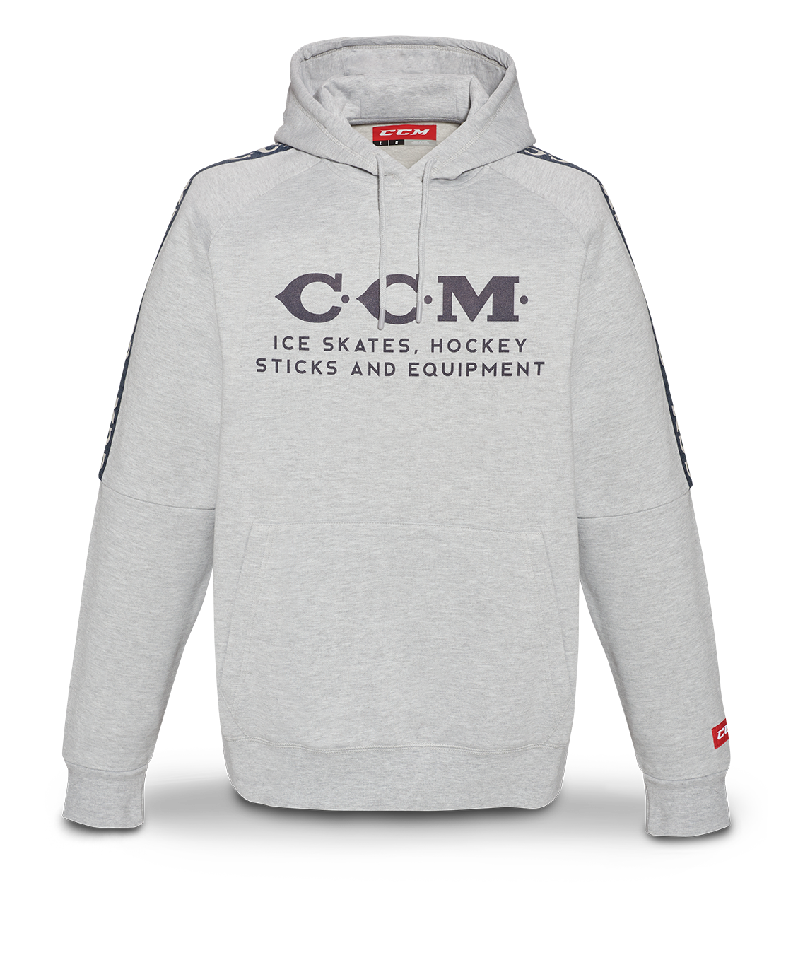 Mikina CCM Heritage Logo Hoodie SR, šedá, Senior, S