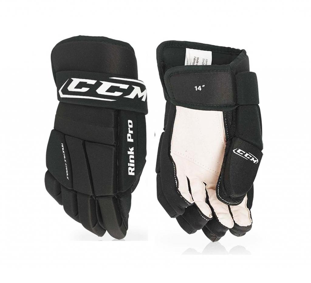"""Hokejbalové rukavice CCM Rink, černá, 14"""", L"""