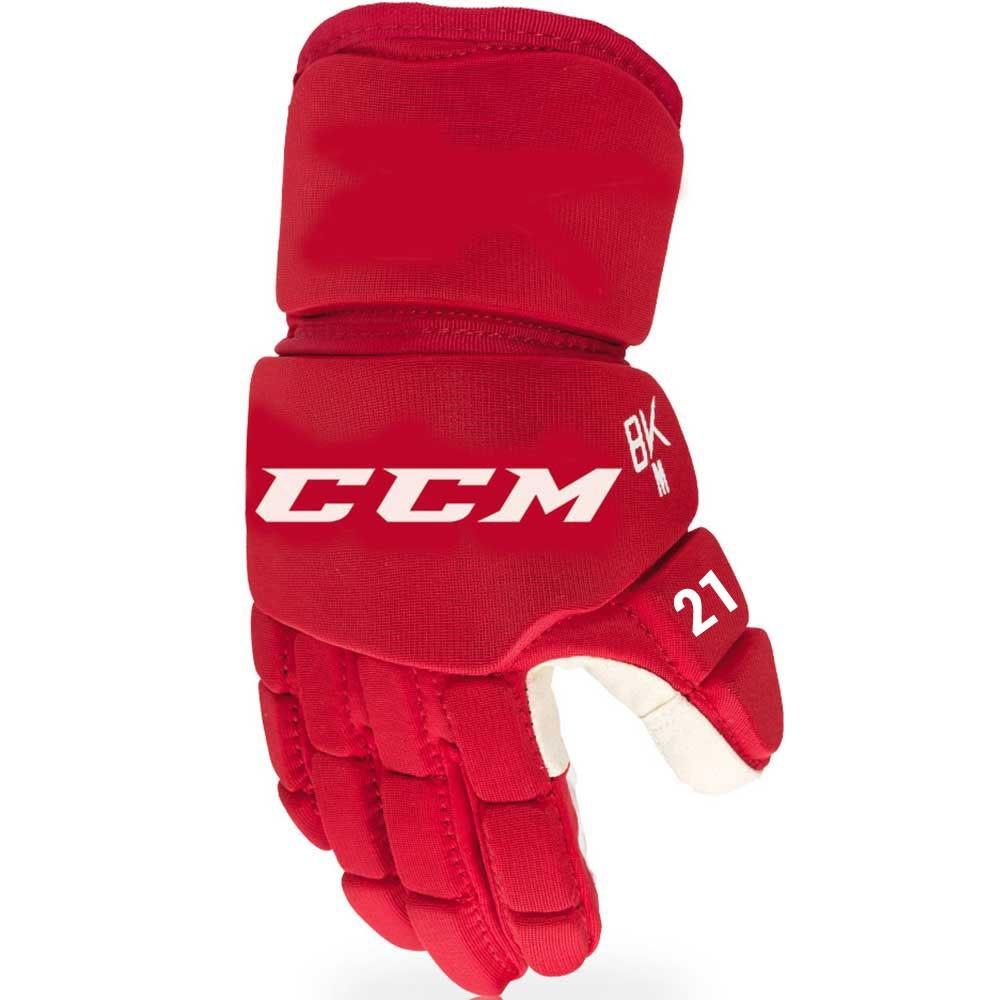 """Hokejbalové rukavice CCM 8K, červená, 12"""", M"""