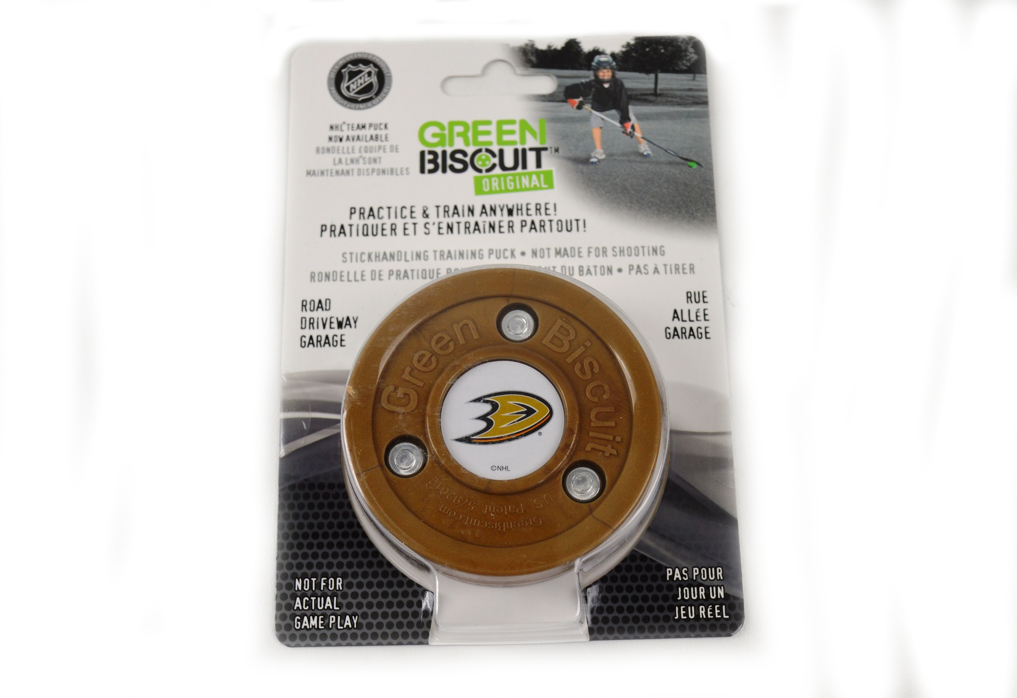 Puk Green Biscuit NHL Anaheim Ducks