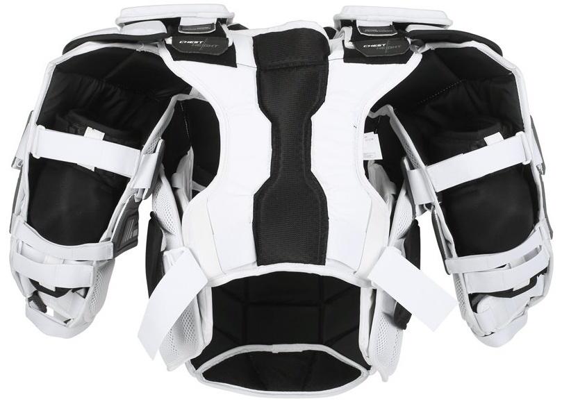 Brankářská vesta CCM Eflex Pro II White SR, Senior, XL